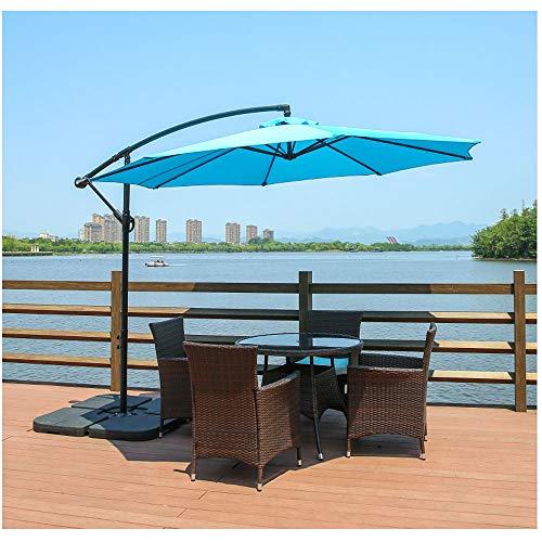 Paraguas al aire libre del sol, colgando con un paraguas colgante de plátano en voladizo, sombrilla grande con protección UV UPF 50+, para patio jardín Pabellón de seguridad paraguas sin base