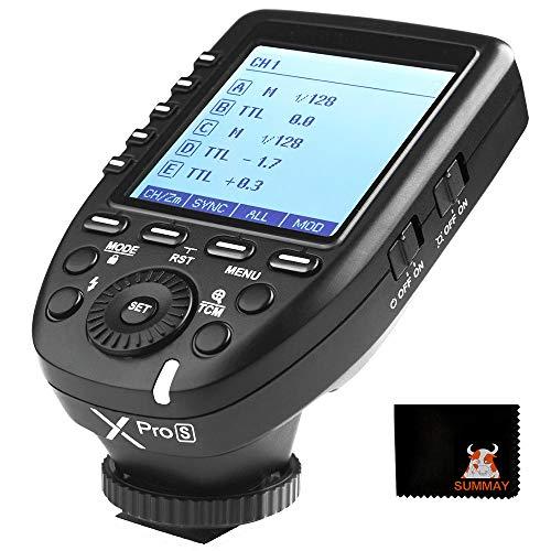 【Godox正規代理&日本語取説書】GODOX Xpro-S ソニー用 送信機 フラッシュトリガー コマンダー ハイスピードシンクロ1/8000s ワイヤレスXシステム Sony一眼レフカメラ対応 超大LCDスクリーン ゴドックス クリップオン モノブロックストロボ適用