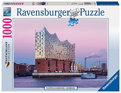 Ravensburger Puzzle 19784 - Elbphilharmonie, Hamburg - 1000 Teile Puzzle für Erwachsene und Kinder ab 14 Jahren, Stadt-Puzzle von Hamburg