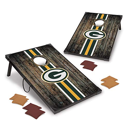 Wild Sports NFL Green Bay Packers 2' x 3' MDF Deluxe Cornhole Set - with Corners and Aprons, Team Color
