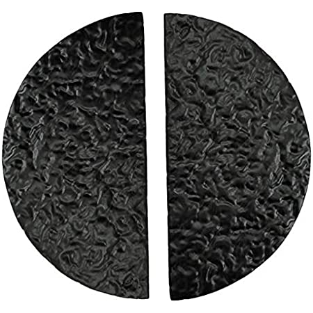 """Adonai Hardware """"Zoheleth"""" Black Cast Iron Half Moon Cabinet and Drawer Cup Pull, 3 Inch Center to Center - Matte Black Powder Coated (2, Matte Black Powder Coated)"""