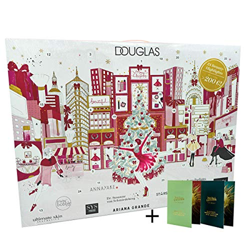 De adventskalender van Douglas New York Christmas 2019 met gratis monsters van de nieuwe geuren van Jean Paul Gaultier La Belle en Le Beau Limited Edition