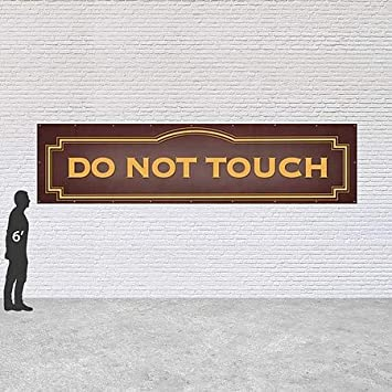 CGSignLab Classic Brown Heavy-Duty Outdoor Vinyl Banner Do Not Touch 8x2