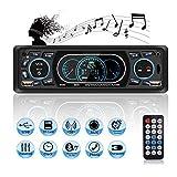 Autoradio USB Bluetooth, MEKUULA Poste Radio Voiture 4x60W 1 Din MP3 Lecteur de Voiture Stéréo Soutient FM/USB/SD/AUX/Bluetooth/Télécommande