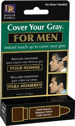 Cover Your Gray For Men - Touch-Up Stick - Dark Brown by Fiske Industries, Inc.