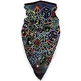 Rainbow D20 Dice Set in Space Divertido Calentador de Cuello elástico a Prueba de Viento Headwear Headband Banda para la Cabeza Bandana