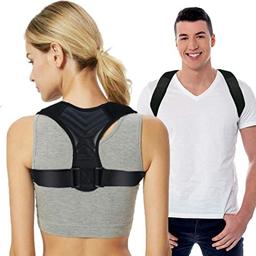 Posture Corrector for Women and Men, Adjustable Back Straightener Upper Back Brace for Clavicle, Support and Pain Relief for Neck, Back and Shoulder (Chest up to 40 inch)