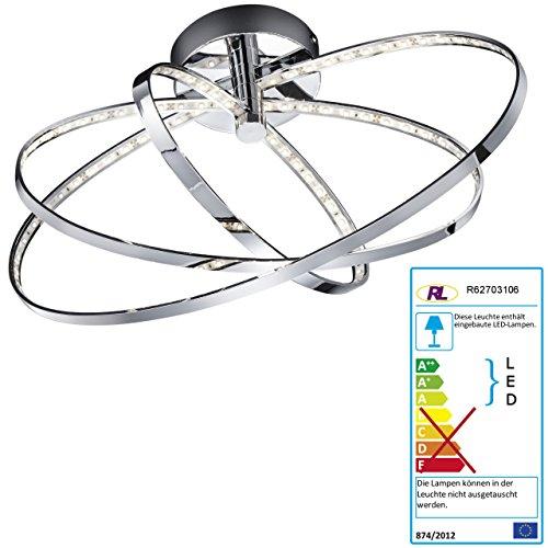 Mendler Reality|Trio LED-Deckenleuchte RL145, Hängeleuchte, 3 Ringe oval 13W EEK A