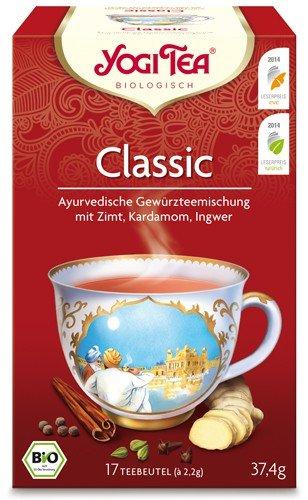 Yogi Tee, Classic, 4er SPARPACK , Biotee, Chai, eine Perle aus der Schatztruhe des Ayurveda, 17 Teebeutel, 37,4g