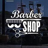 Barber Shop Window Sign Vinyl Decal Stickers de pared Barber