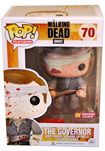 Funko - Figurine Walking Dead - Gouverneur Bloody PX exclu Pop 10cm - 0830395035178