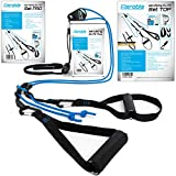 aeroSling Schlingentrainer Elite Plus - Sling Trainer Ganzkrpertraining mit Umlenkrolle, Tranker - Videoanleitung + Trainingsplan - Fitnessgert fr Zuhause, Home Workout, Home Gym, Home Trainer