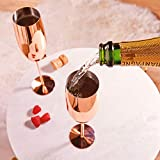 Beautify Sektgläser Champagnerflöten/Gläser Kupfer 2 Stück - Bruchsicherer Edelstahl Sektkelche - 5