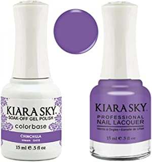 Kiara Sky Matching Gel Polish + Nail Lacquer, Chinchilla, .5 fl. oz