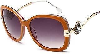 LUKEEXIN Ladies Fashion Polarized Sunglasses, Classic Vintage Design Style (Color : Orange)