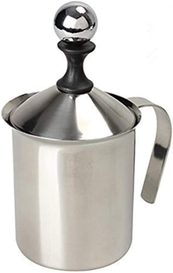 Milk Frother HomeGoal Stainless Manual Courier shipping free shipping Foamer Denver Mall Handh Steel