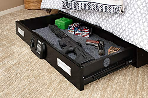 SnapSafe 75401 Under Bed Safe with Electronic Lock, black