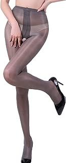 Women's High Waist Control Top Tights Sheer Shiny Pantyhose Silky Stockings