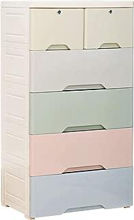 Nafenai Plastic Drawers Storage Dresser,Large Dressers for Clothes,Storage Chest with 6 Drawers,Organizer Unit for Bedroom,Playroom,Living Room,Colorful