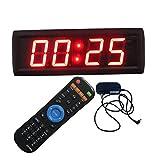 Ledgital 2.3' Countdown Timer with Real Time Clock LED Digital Wall Clock Brightness Adjustment
