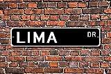 HNNT Blechschild Post Lima Schild Geschenk Lima Besucher