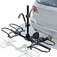 Leader Accessories 2-Bike Platform Style Hitch Mount Bike Rack, Tray Style Bicycle Carrier Racks Foldable Rack for Cars, Trucks, SUV and Minivans with 2