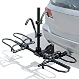 Leader Accessories 2-Bike Platform Style Hitch Mount Bike Rack, Tray Style Bicycle Carrier Racks...