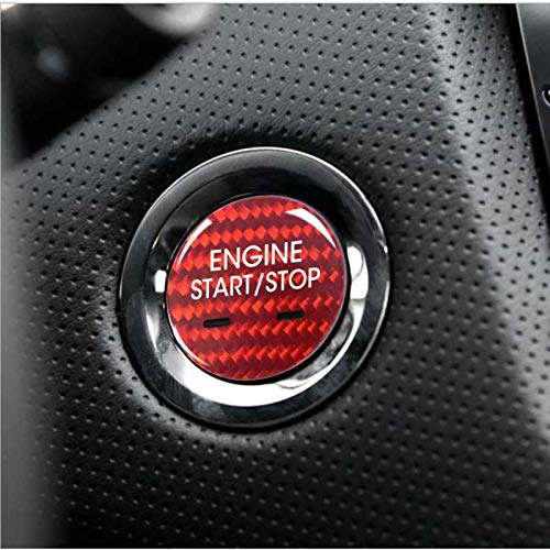 Tonyzhou Co.,ltd Ajuste de la Cubierta del botón de Arranque del Motor de Fibra de Carbono, para Cadillac XTS CT6 XT5 SRX CTSarranque con un Solo botón