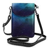 alemon Borsa per cellulare Piccola borsa a tracolla stella cervo Aurora Starlight Portafogli con tracolla regolabile da donna