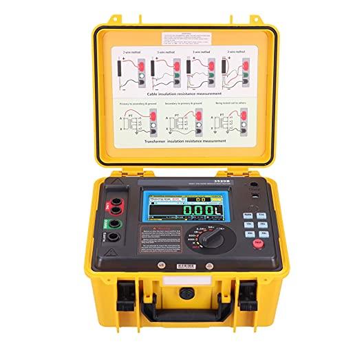 Digital Insulation Resistance Tester ABS LCD Display High Voltage Megohmmeter 10KV Insulation Resistance Meter(US Plug)