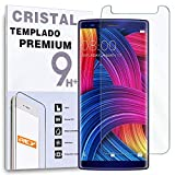 REY Protector de Pantalla para DOOGEE Mix 2, Cristal Vidrio Templado Premium