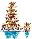 Micro Mini Construction Bricks Penglai Pavilion Castle Set (5146 PCS) Famosos Juguetes de Regalo de Arquitectura para niños y Adultos