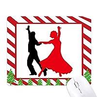 デュエット・ダンス・社交ダンスのダンサー ゴムクリスマスキャンディマウスパッド