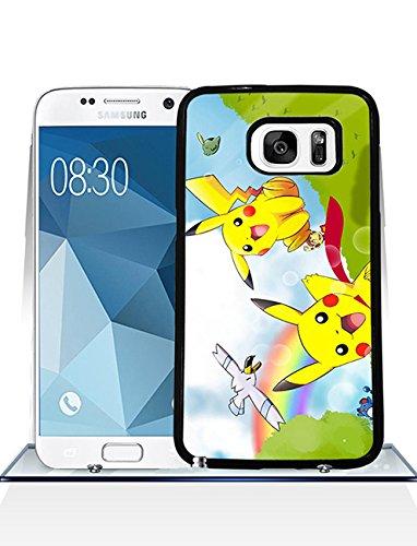 Pokemon Pikachu Coque Case, Samsung Galaxy S7 Coque Case Pokemon Pikachu Games Design Gift pour Man, Durable Hard PC Pokemon Pikachu Galaxy S7 téléphone étui