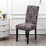 NIKIMI Fundas elásticas Impresas para sillas elásticas Fundas para sillas de Spandex para Bodas Comedor Oficina Banquete Housse Sala de Estar