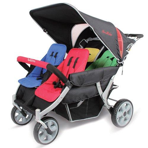 familidoo Heavy Duty Kinderwagen, 4-Sitzer