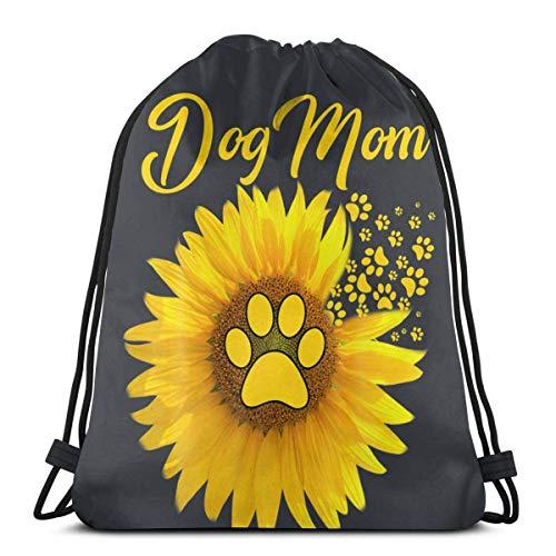 Dog Mom Suower Dog P Drstring Bapa Sport Gym Sapa Borsa da viaggio per bambini Uomo Donna