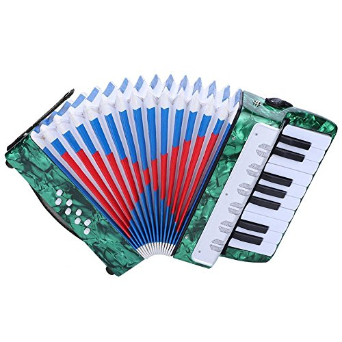 Drfeify 17 Key Accordion, 8 Bass Piano Accordion 17 Key Bass Piano Accordion for Beginners...