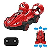 JINGBO RC Hovercraft Land and Water for Kids 2 in 1 Remote Control Amphibious Vehicle 2.4Ghz Waterproof Drift Car Toy ,360 Degree Spinning and Flips
