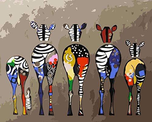 XINTONG Puzzle per Adulti 1000 Pezzi Colorato Zebra Art Model Living Room Art Puzzle in Legno Stile Fai da Te