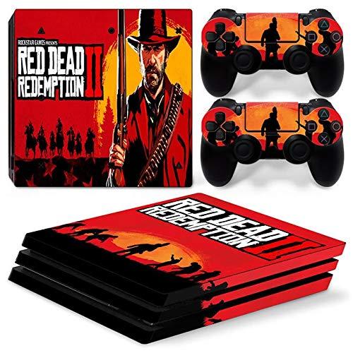 XIANYING Console de Jeu Ps4 Pro Tous Les papiers adhésifs hôtes Ensemble Complet Autocollant Peau Red Dead Redemption 2