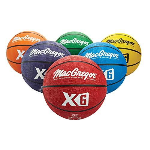 MacGregor Multicolor Basketballs Set of 6  Official Size 295quot