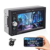 Camecho Car Multimedia Player Double Din Car Stereo with Bluetooth 1080P Full HD 6.2