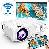 [Wireless Beamer] WiFi Beamer 4500 Lumen Unterstützt 1080P Full HD, Native 720P WiFi Projektor...