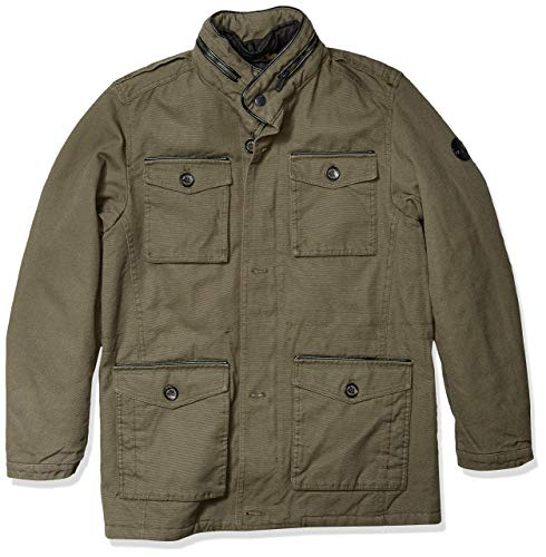 Ben Sherman Herren Parka Jacket Daunenalternative, Mantel, Baumwolle Olive, Mittel