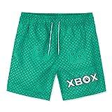 Xbox Bañador Niño, Bañador Corto para Playa O Piscina, Traje De Baño Oficial para Gamers, Regalos Originales para Niños Y Adolescentes 7-15 Años (Verde, 11-12 años)
