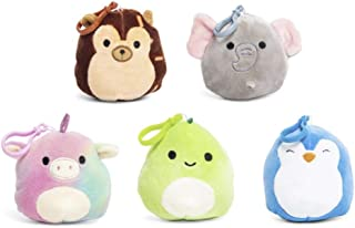Squishmallows Clip-Ons Backpack Keychain Clip On Plush Animal Toy Set of 5