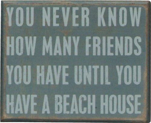 Beach House Inspired Box Sign