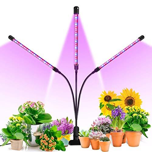 Pflanzenlampe LED, licht Grow Lampe30W, Wachsen licht with 60 Leds,dimmbar Pflanzenlicht Vollesspektrum Pflanzen Wachstumslampe mit 3 Timer 3/6/12Stunden, Plant Lights für Zimmerpflanzen Gartenarbeit