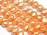 Perlas de agua dulce cultivadas de 6 mm, albarroco, patata, natural, barroco, piedras preciosas, perlas, joyas, perlas para enhebrar, para cadenas artesanales, perlas de piedras preciosas